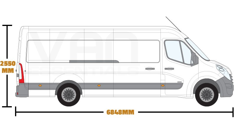 Extra Long Wheel Base (L4) , Medium Roof (H2)