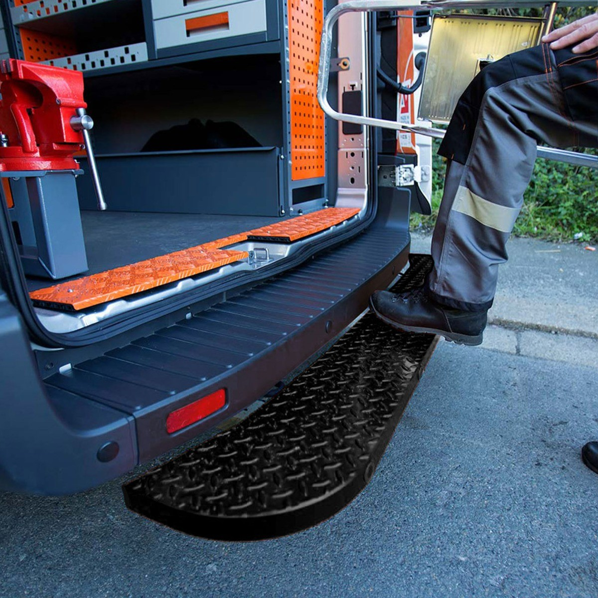 Fits the Nissan NV400 2010 On-Black Rear