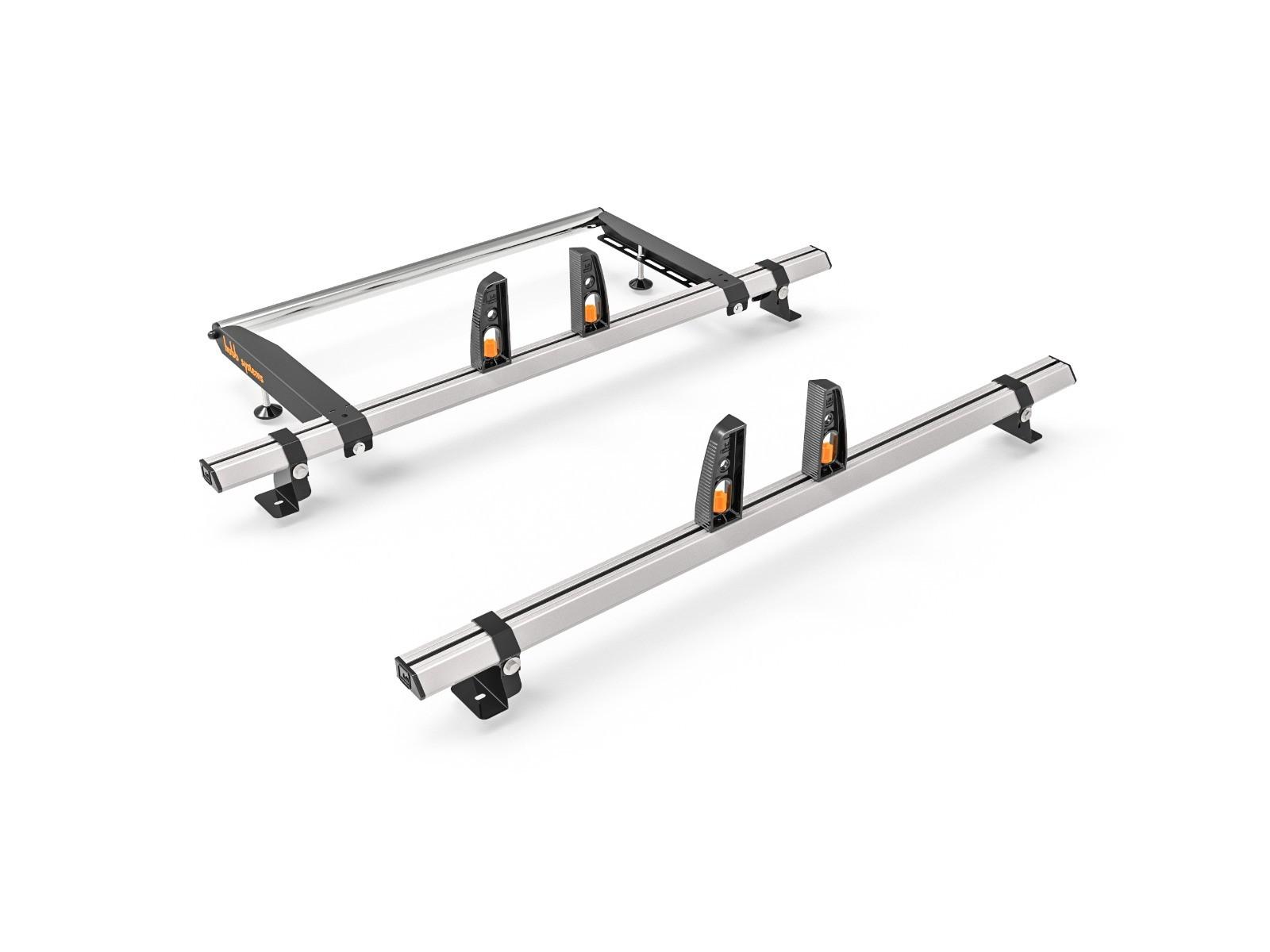 VW Transporter T5 Roof Bars 2002-2014 SWB 2 x Roof Bars Vecta Bars + Rear