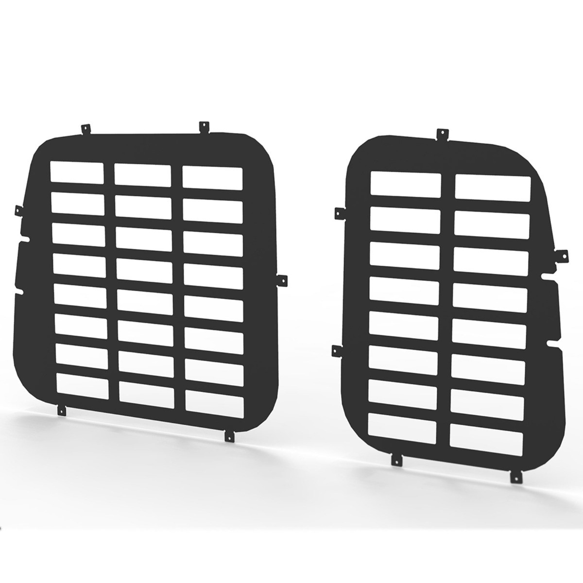 VW Caddy and Maxi 2004-2015 Rear Door Window Guard Grille in Black-Tailgate
