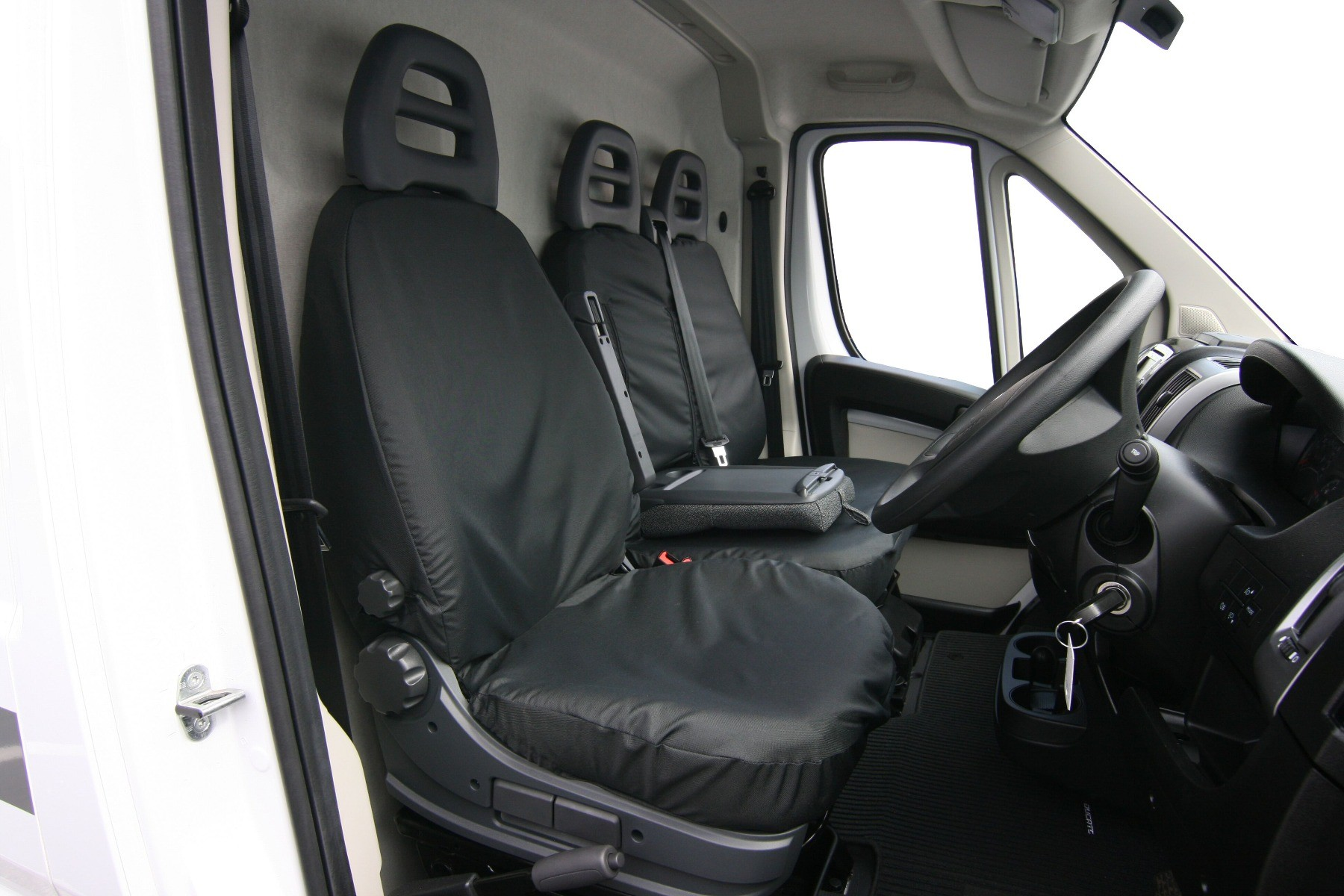 Driver or Passenger Single Seat Covers.Peugeot Boxer 2006 On,Original Town & Country Seat