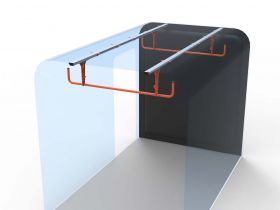 Ford Transit 2 Rung Ladder Cradle- Up To 2014 -Internal Ladder Storage-HSLC-2 by Hubb Systems