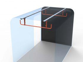 Ford Transit Custom 2 Rung Ladder Cradle- 2013 Onwards -Internal Ladder Storage-HSLC-2 by Hubb Systems