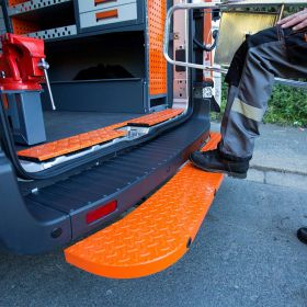 Ford Transit Rear Step -2014 Onwards  - Hubb Systems Assured Rear Step