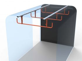 Ford Transit 3 Rung Ladder Cradle-Up to 2014 -Internal Ladder Storage-HSLC-3 by Hubb Systems