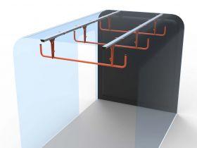 Ford Transit Custom 3 Rung Ladder Cradle-2013 Onwards -Internal Ladder Storage-HSLC-3 by Hubb Systems