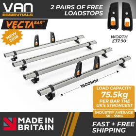 Ford Transit Roof Rack,2014 Onwards L3 LWB - 4x Roof Bars Vecta Bars by Hubb