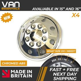 "Wheel Trims Van/Motorhome-16"" Chromed ABS Van/Motorhome Wheelcover's"