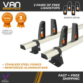 Renault Kangoo Roof Rack,(L3)LWB 2008 On-2x Roof Bars Vecta Bars by Hubb Systems