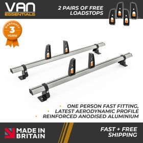 Vauxhall Combo Cargo XLong Wheelbase  Roof Rack Dec 2018 Onwards -2x Roof Bars Vecta Bars by Hubb Systems