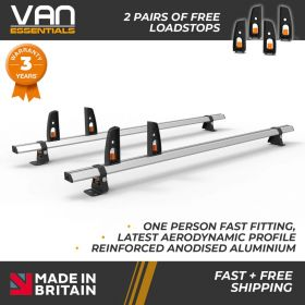 Vauxhall Combo Roof Rack,2012-Nov 2018-2x Roof Bars Vecta Bars by Hubb Systems