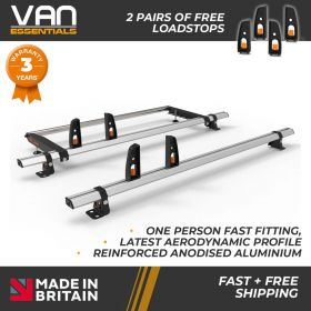 Ford Transit Custom Roof Rack Low Roof 2x Roof Bars Vecta Bars + Rear Roller