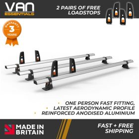 Vauxhall Combo Roof Rack,2012-Nov 2018 -3x Roof Bars Vecta Bars by Hubb Systems