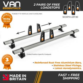 Nissan Primastar Roof Rack,2002-2014 Low Roof 2x Roof Bars Vecta Bars by Hubb Systems