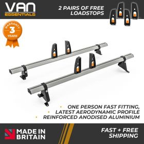 Peugeot Bipper Roof Rack,2008 Onwards-2x Roof Bars Vecta Bars by Hubb Systems