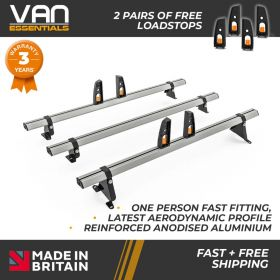 Peugeot Bipper Roof Rack,2008 Onwards-3x Roof Bars Vecta Bars by Hubb Systems