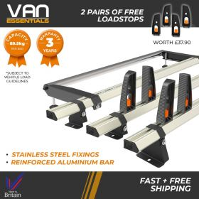 Ford Transit Custom Roof Rack High Roof 3x Roof Bars + Rear Roller Vecta Bars by Hubb Systems