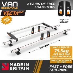 Nissan Primastar Roof Bars 2002-2014 Low Roof 2xRoof Bars Vecta Bars+Rear Roller