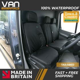 Driver and Passenger Double Tailored Seat Cover - Mercedes Sprinter 2010 - November 2018 - The Original Town & Country Seat Cover.