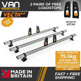 Nissan NV200 Roof Rack,2009 On-3x Roof Bars Vecta Bars by Hubb Systems