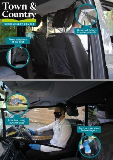 PPE Vehicle Screen Divider by Town and Country