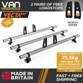 Ford Transit Connect Roof Rack (L1/H1) 2014 On-3x Roof Bars Vecta Bars by Hubb