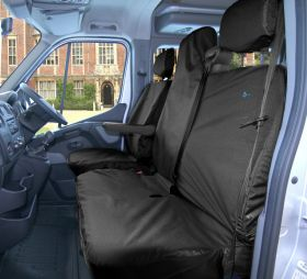 Driver & Passenger Double Seat Cover - Vauxhall Movano 2011-2014-The Original Town & Country Seat Cover.