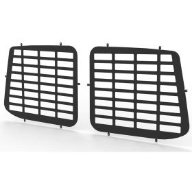 VW Transporter T6 and T5 all years Rear Door Window Guard Grilles in Black-PAIR