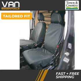 Tailored fit Fiat Fiorino Seat Covers-2008 On-Front Single Driver & Small Folding Passenger Seat-Original Town & Country