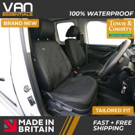 Driver & Single Passenger Seat Cover - Volkswagen Caddy and Maxi 2010 Onwards - The Original Town & Country Seat Cover.