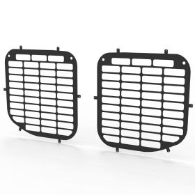 Ford Transit Crew Cab/Tipper 2014 On Cab Side Window Guard Grilles in Black-PAIR