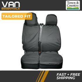 A Tailored Fit Seat Cover for the Renault Trafic 2014 Onwards Folding Double Passenger Original Town & Country Seat Cover.