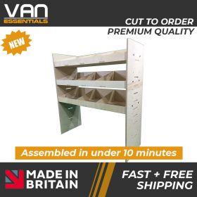 Ford Transit Connect Van Racking-3 Shelf Birchwood Plywood Shelving/Racking-External Size: (W) 1000mm x (H) 1087mm x (D) 384mm.