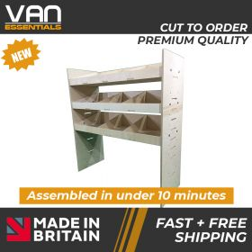 Peugeot Boxer Van Racking-3 Shelf Birchwood Plywood Shelving/Racking-External Size: (W) 1000mm x (H) 1087mm x (D) 384mm.