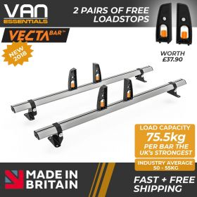 Mercedes Vito Roof Rack,(L1/H1) SWB - 2004 On-2x Roof Bars Vecta Bars by Hubb