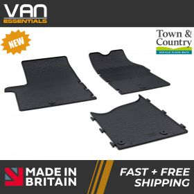 Pair of Front Rubber Mats - Vauxhall Vivaro 2014-2019 - Town & Country Tailored Fit Rubber Mats