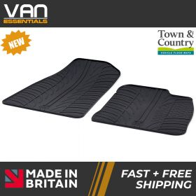 Pair of Front Rubber Mats - Ford Courier 2014 Onwards - Town & Country Tailored Fit Rubber Mats