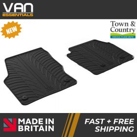 Pair of Front Rubber Mats - Ford Connect 2014 Onwards - Town & Country Tailored Fit Rubber Mats