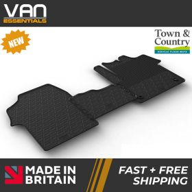 Pair of Front Rubber Mats - Peugeot Expert 2016 Onwards - Town & Country Tailored Fit Rubber Mats