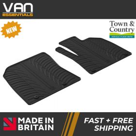 Pair of Front Rubber Mats - Citroen Berlingo 1st September 2019 Onwards - Town & Country Tailored Fit Rubber Mats