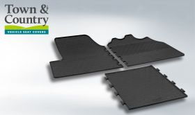 Front Rubber Mats - Peugeot Boxer 2014 Onwards - Town & Country Tailored Fit Rubber Mats