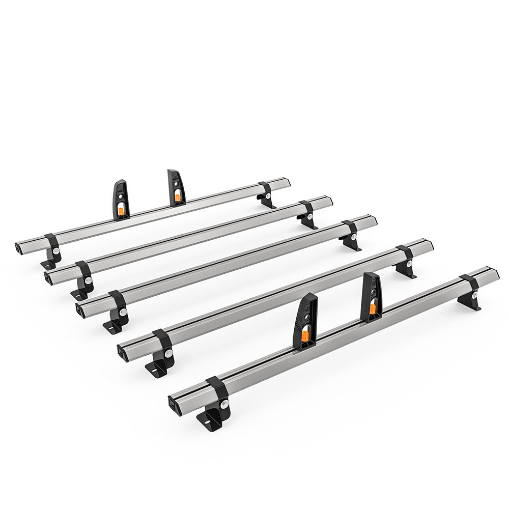 Volkswagen Crafter Roof Rack, H1- 2006-2017 - 5x Roof Bars Vecta Bars by Hubb