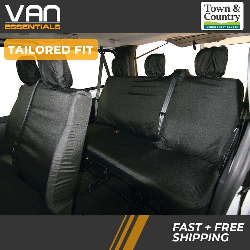 VAUXHALL VIVARO COMBI MINIBUS 9 SEATS 2001-2014 ECO LEATHER TAILORED SEAT COVERS